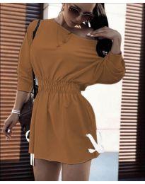 Šaty - kód 7470 - hnedá