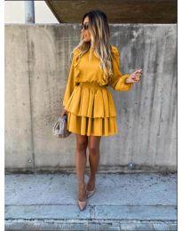 Šaty - kód 7723 - hořčičná