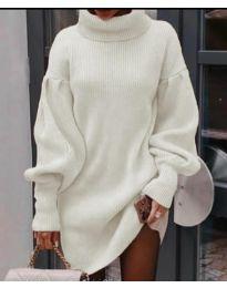 Šaty - kód 2884 - biela