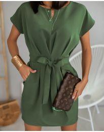 Šaty - kód 772 - olivová  zelená
