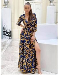 Šaty - kód 4489 -1 - modrá