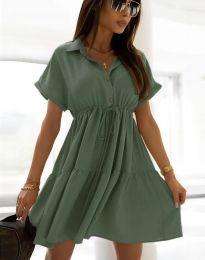 Šaty - kód 6292 - olivovo zelená