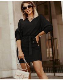 Šaty - kód 9876 - čierná