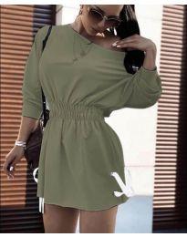 Šaty - kód 7470 - olivová  zelená