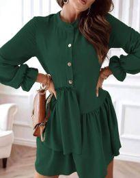 Šaty - kód 2829 - tmavozelená