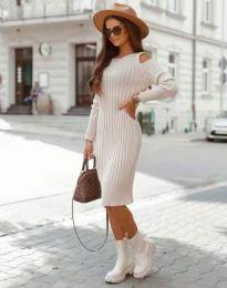 Šaty - kód 8203 - bežová