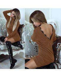Šaty - kód 0502 - hnedá