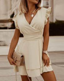 Šaty - kód 5654 - šampanské