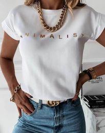 Tričko - kód 4079 - biela