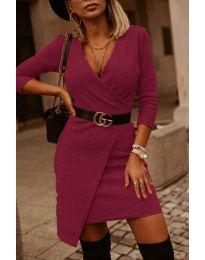 Šaty - kód 9977 - bordeaux