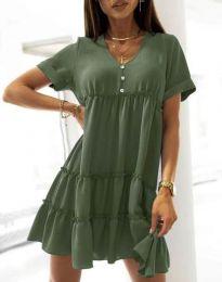 Šaty - kód 7205 - olivovo zelená