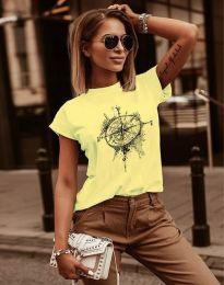 Tričko - kód 3245 - 2 - žltá