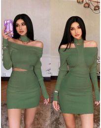 Šaty - kód 3982 - zelená