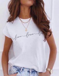 Дамска тениска в бяло - код 4360