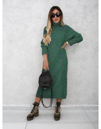 Šaty - kód 0590 - olivová  zelená