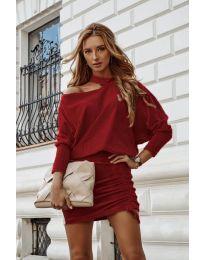 Šaty - kód 8987 - bordeaux