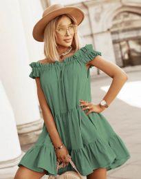 Šaty - kód 6969 - olivovo zelená