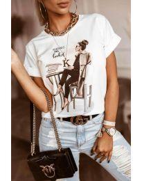 Tričko - kód 5659 - biela