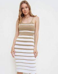 Šaty - kód 0998 - bežová