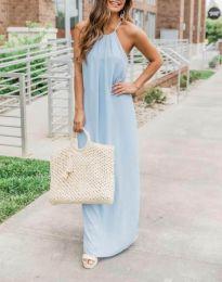 Šaty - kód 6258 - 2 - svetlo modrá