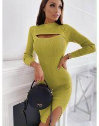 Šaty - kód 4528 - hořčičná