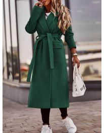 Kabát - kód 7989 - olivová  zelená