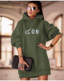 Šaty - kód 9333 - olivová  zelená