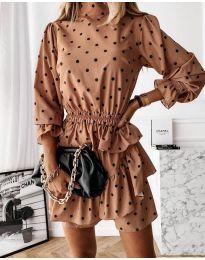 Šaty - kód 3665 - bežová