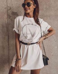Šaty - kód 8205 - biela