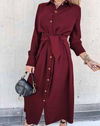 Šaty - kód 1860 - bordeaux