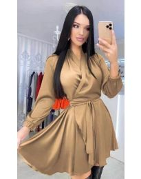 Šaty - kód 5931 - hnedá