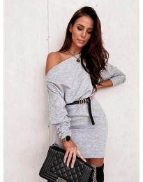 Šaty - kód 4442 - šedá