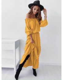 Šaty - kód 1317 - hořčičná