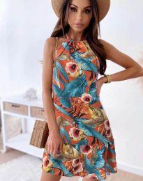 Šaty - kód 7027 - oranžová