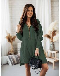 Šaty - kód 6113 olivovo zelená