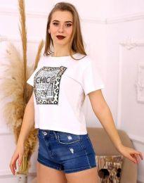Tričko - kód 2489 - biela