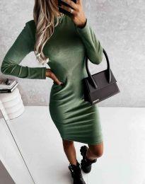 Šaty - kód 9368 - olivová  zelená