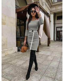 Šaty - kód 5190 - šedá
