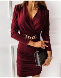 Šaty - kód 8999 - bordeaux