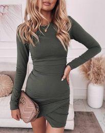 Šaty - kód 2835 - olivová  zelená