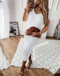 Šaty - kód 0714 - 3 - biela