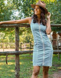 Šaty - kód 7735 - 3 - svetlo modrá