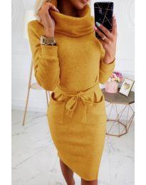 Šaty - kód 219 - hořčičná