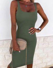 Šaty - kód 8899 - olivová  zelená