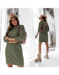 Šaty - kód 129 - olivová  zelená