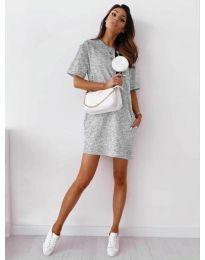 Šaty - kód 7236 - sivá