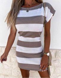 Šaty - kód 4633 - hnedá