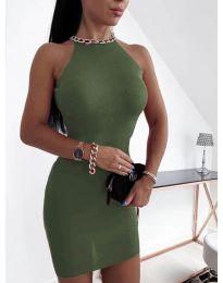 Šaty - kód 9690 - olivová  zelená