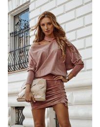 Šaty - kód 8987 - pudrová