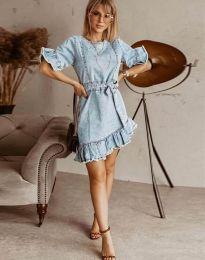Šaty - kód 1350 - 1 - svetlo modrá